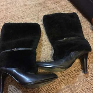 Ralph Lauren fur boots