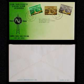 Malaysia-1965-ITU-17-May-65-Postmarked-in-Singapore-00023-FDC