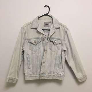 ASOS White/Light Wash Denim Jacket