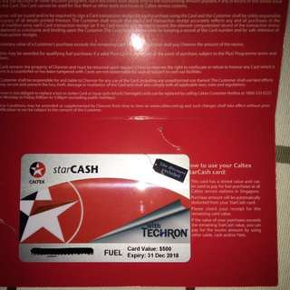 Caltex star cash 500$