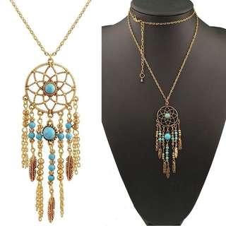 DREAMCATCHER necklaces (gold & silver)