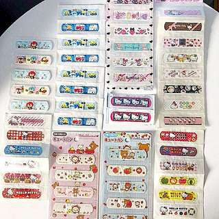 Collection Cute Plasters Bandages