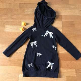 Armani Junior Hoody Dress for Little Girl 3-4 years old