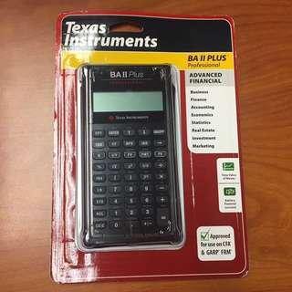 BNEW ORIG Texas Instruments BA II 2 Plus Professional Finl Calcu
