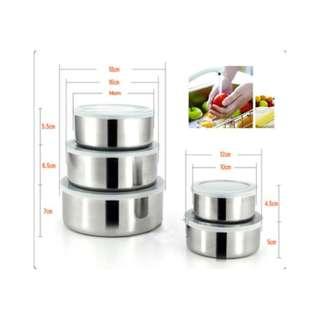 Murah paket 5 pcs panci stainless steel 5 susun tutup plastik - HPD041