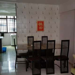 Near Macpherson CC10 MRT Station Blk 57 Circuit Rd 2+1 For Rent Mid Floor Furnished with Air Con