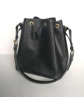 Authentic Louis Vuitton Noe Black Epi
