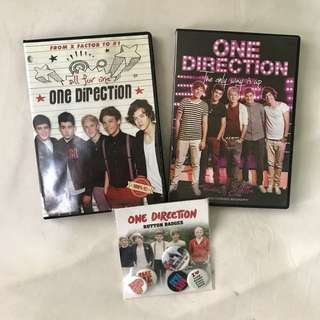 One Direction DVD Bundle with Pins!