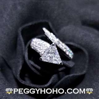 ((GIA證書---F色)) 全新18K白金(單粒1卡50份) ((配微鑲小鑽))共2卡68份鑽石戒指