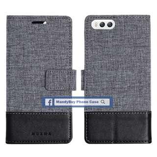 特別款式 出口品質 MUXMA 小米 MI 6 帆布 插卡 座台 超薄 手機皮套