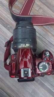 Nikon D3100 with lens