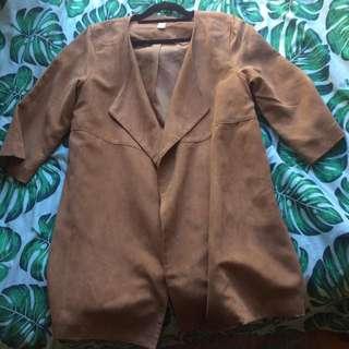 Suede spring/summer coat