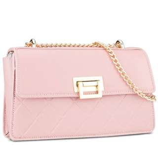 DMK Quilted Chain Sling Bag In Pink