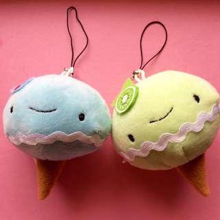 Cherry and Kiwi ice-cream plushies