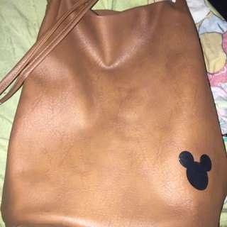 Mickey Mouse Leather Sling/Shoulder Bag