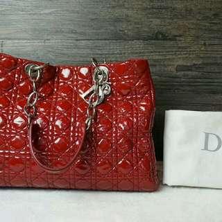 亏本清货 不讲价😭 98新 迪奥dior 红色漆皮 双链单肩包 原价2万+购入