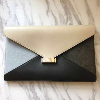 Celine Envelope Tri-colour Clutch Bag