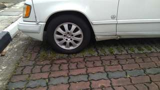 "Mercedes Rims 15"" + Tyres for sale From my W124. Set of 4."