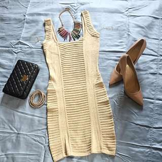 Sexy/Party/Formal dress (Beige/Gold)