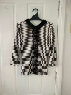 Review French striped top