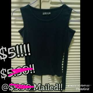Clearance sale @$5 mailed!!! Cotton on top!!
