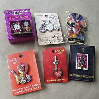 Hard rock pins