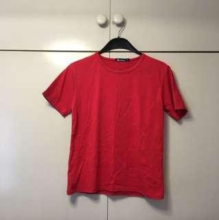 plain red T-shirt