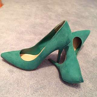Emerald Green Suede Pumps Size 7