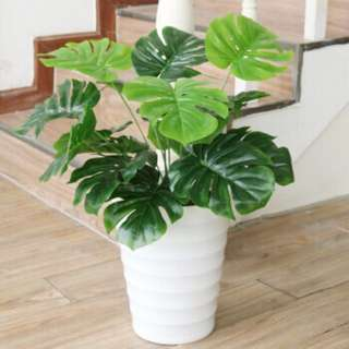 Artificial Monstera potted plant