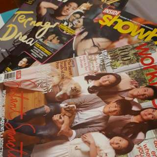 Daniel Padilla Chalk Magazine , Kathniel's Inside Showbiz Magazine, Workingmom Magazine ft. Karla Estrada with her Kids
