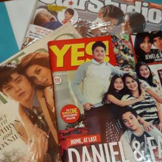 Yes Magazine ft. Daniel Padilla and his family, KathNiel's Star Studio Magazine, Metro Magazine ft. KathNiel