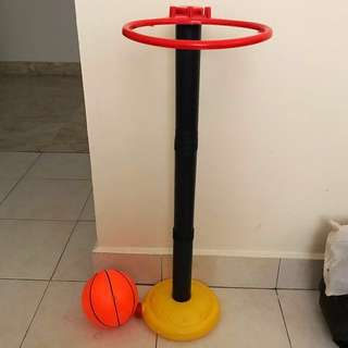 Basketball toy set with medium sized ball