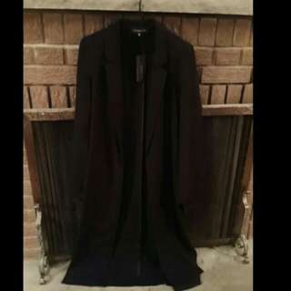 Dynamite NEW x-small black Maxi blazer with side slits