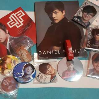 Daniel Padilla Album with Pins, Keychains, and Magnets