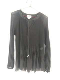 Witchery pleated black evening top