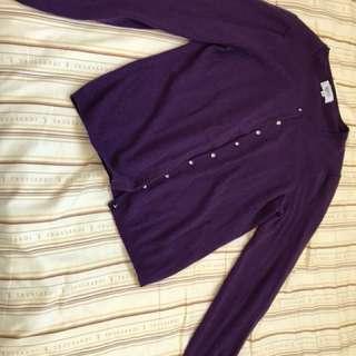 自由區紫色毛衣小外套