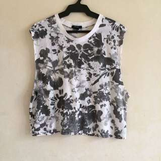 Forever 21 Muscle tee crop top