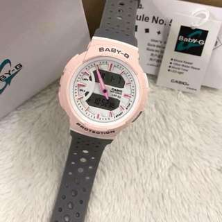 Authentic Casio Baby-G Baby pink with gray