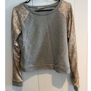 GOLDIE Sequin Sweat Jumper