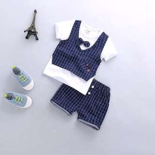 Korea style baby boy cloth set