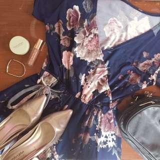 Floral Wrap-Around Dress