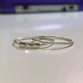 Dainty minimalist rings (size 5)