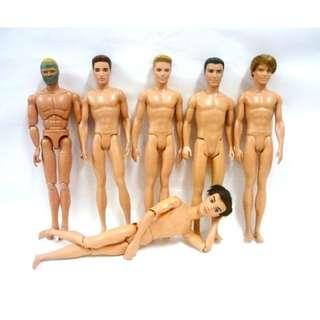Lot of Nude Ken / My Scene dolls