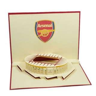 Arsenal Pop Up Greeting Card