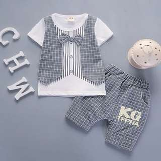 Korea style fashion baby boy cloth set