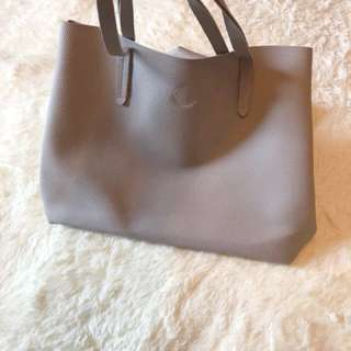 Brand new grey Korean style big tote bag