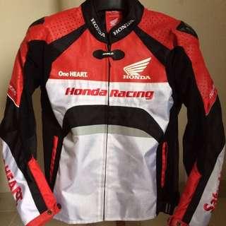 Jaket Kulit Honda Racing Red