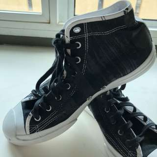 Converse Black High Top: Jack Purcell Edition