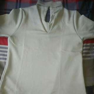 Sabrina shirt biru muda