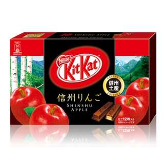 日本 信州 限定 KitKat 蘋果味 View larger Japan Shin-Shu KitKat apple
